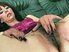 Hairy grandma masturbating and getting fucked