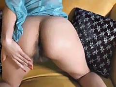 Masturbating her hairy bush by airliner1