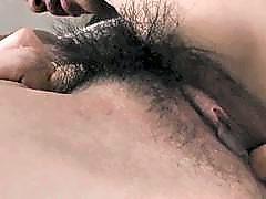 Slutty Asian sucks large cock