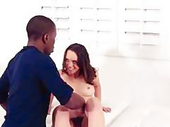 Nasty teen babe Jade Nile gets fucked by big black cock