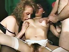 Frankie Leigh Kim Alexis Molly Munro in vintage fuck video